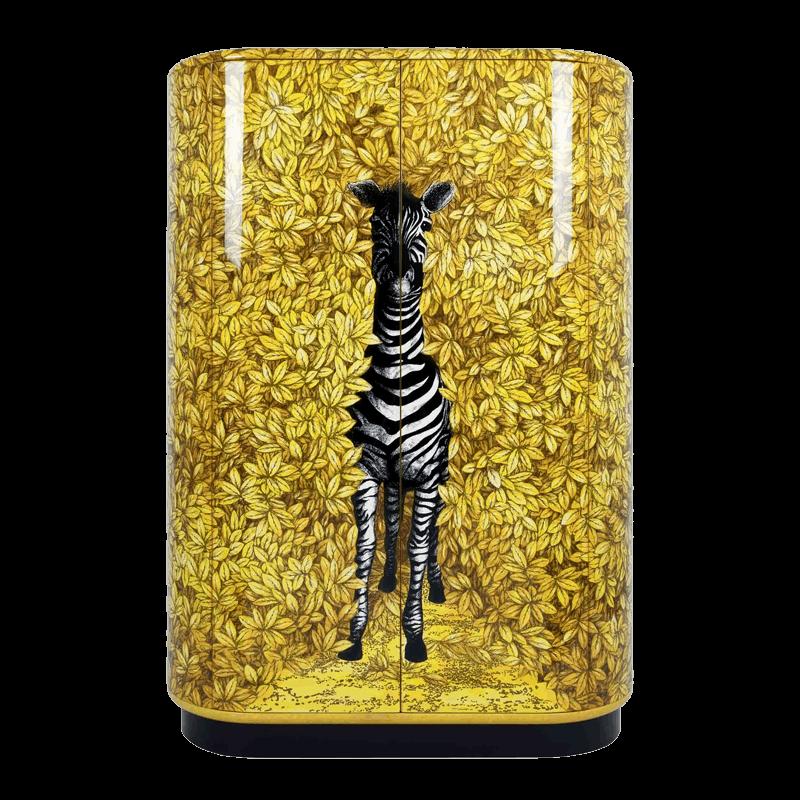 Curved cabinet zebra - Fornasetti mobili ...