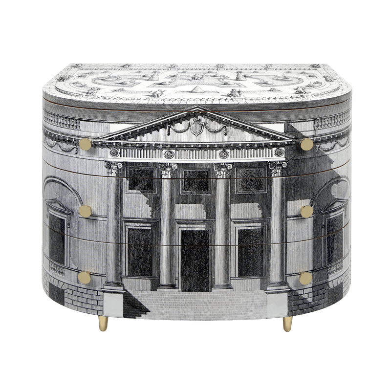 Curved chest of drawers palladiana - Fornasetti mobili ...